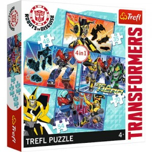 Trefl Puzzle 4 in 1 TRANSFORMERS
