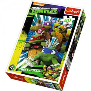 Trefl Puzzle 60 el. TURTLES